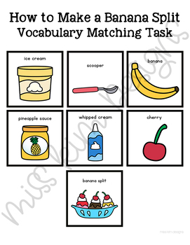 How to Make a Banana Split Vocabulary Folder Game for Special Education
