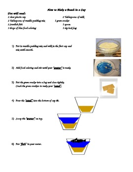 How to Make a Beach in a Cup- Beach week snack