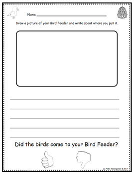 How to Make a Bird Feeder Reader and Activity Pages