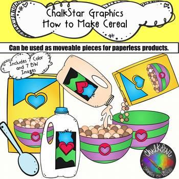 how to make a bowl of cereal clip art by chalkstar tpt rh teacherspayteachers com bowl of cereal clipart bowl of cereal clipart
