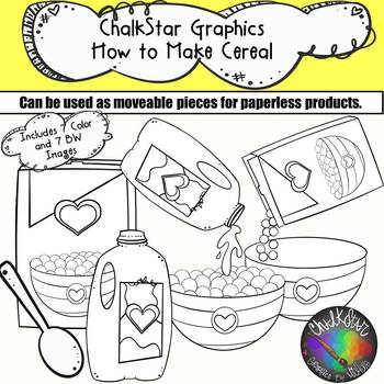 How to Make a Bowl of Cereal Clip Art