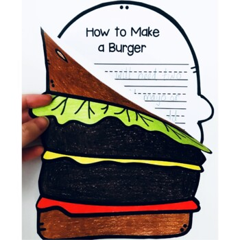 How to Make a Burger Craftivity (Writing Prompt & Craft)