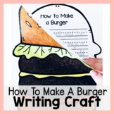 How to Make a Burger Craftivity Writing Prompt and Craft