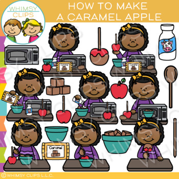 How to Make a Caramel Apple: Sequencing and Fall Clip Art