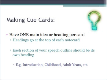 How to Make a Cue Card