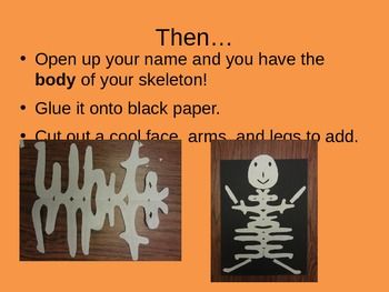 How to Make a Cursive Name Skeleton - Student Directions Slideshow