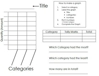 Graphing and Tally Chart Math Center Activity