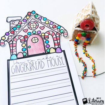 How to Make a Gingerbread House {Free Winter Writing Craftivities Sample}