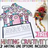 How to Make a Gingerbread House {Free Winter Writing Craft