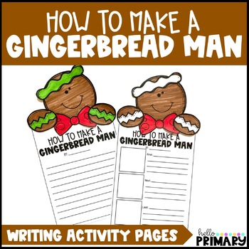 How to Make a Gingerbread Man Writing Activity