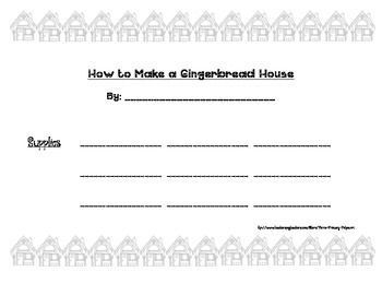 How to Make a Gingerbread Non-Fiction Writing