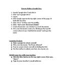 How to Make a Google Doc