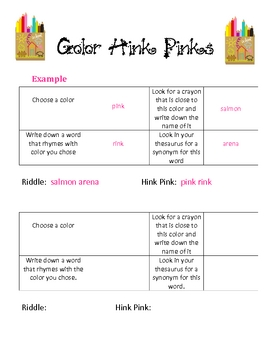 How to Make a Hink Pink