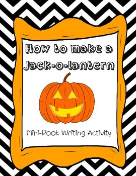 How to Make a Jack-o-Lantern Mini Book