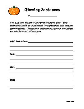 How to Make a Jack-o-lantern Writing Activity