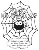 How to Make a Marshmallow Spider {Informational Writing}