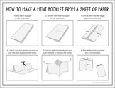 Free How to Make a Mini Booklet from a Sheet of Paper