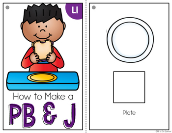 How to Make a PBJ Adapted Books { Level 1 and Level 2 } Visual Recipe