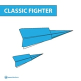FREE Paper Airplane Diagrams | Classic Fighter ( Great for Fun Activity )