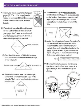 Bucket Filler - How to Make a Paper Bucket