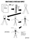 How to Make a Paper Man Puppet Handout
