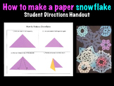 How to Make a Paper Snowflake Printable Handout Christmas Holiday Winter Project