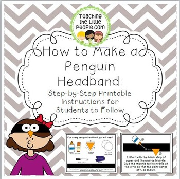How to Make a Penguin Headband: Step-by-Step Instructions for Students To Follow