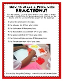 How to Make a Pizza with Fractions!