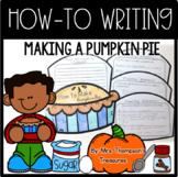 How to Make a Pumpkin Pie Writing Craft