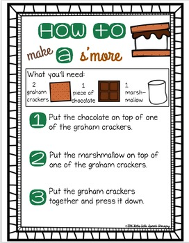 How to Make a S'More Writing FREEBIE! (color and black line)