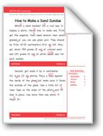 How to Make a Sand Sundae (Gr. 3/Week 21)