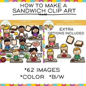 How to Make a Sandwich Clip Art {Sequencing and Lunch Clip Art}