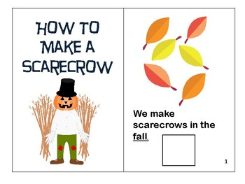 How to Make a Scarecrow: Fall Interactive Vocabulary Book