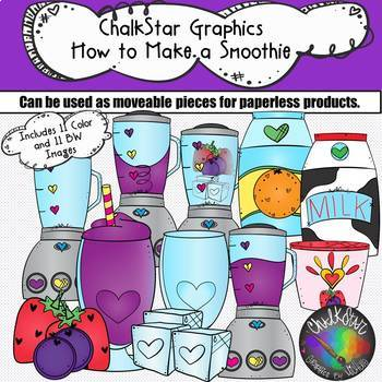 How to Make a Smoothie Clip Art- Chalkstar Graphics