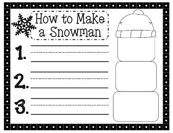 How to Make a Snowman