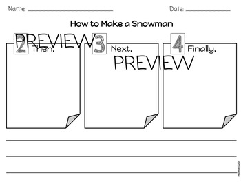 How to Make a Snowman Sequencing and Writing