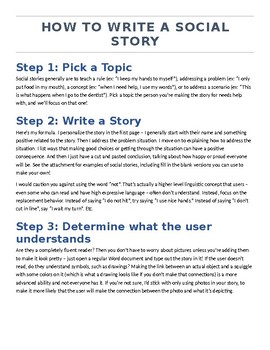 How to Make a Social Story: A Step by Step Printable Guide