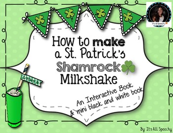 How to Make a St. Patrick's Shamrock Milkshake Interactive Book