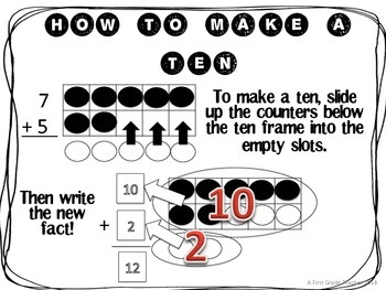 How to Make a Ten to Add Practice Worksheets