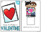 FREE How to Make a Valentine Adapted Books [ Level 1 and 2 ] Valentines Card