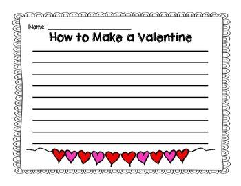 How to Make a Valentine {Writing Freebie}