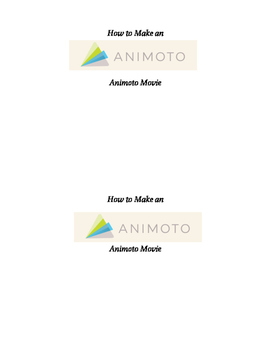 How to Make an Animoto Movie