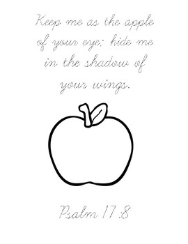How to Make an Apple Pie...Bible Verse Printable (Psalm 17:8)