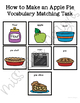 How to Make an Apple Pie Vocabulary Folder Game for Special Education