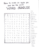 How to Make an Apple Pie and See the World Word Search