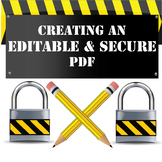 How to Make an Editable & Secure PDF with step by step ins