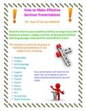 How to Make an Effective Presentation Handout