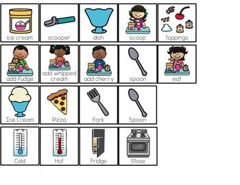 How to Make an Ice Cream Sundae Adapted Books ( Level 1 and Level 2 )