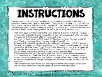 How to Make an Ice Cream Sundae Burrito Booklet & Lesson