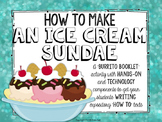 How to Make an Ice Cream Sundae Burrito Booklet & Lesson